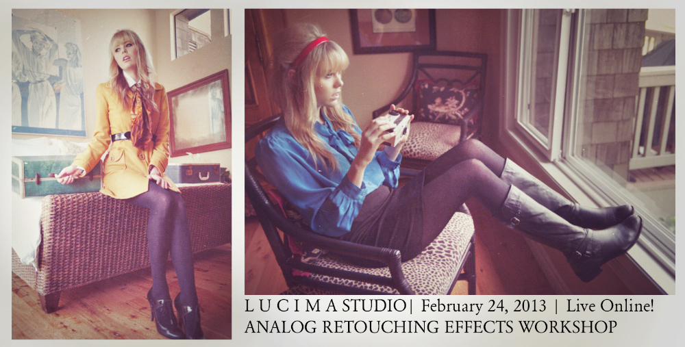 ANALOG RETOUCHING EFFECTS WORKSHOP: Light Leaks, Effects, Grains, Diptychs, Sharpening, Resizing